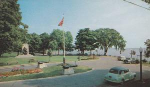 Couchiching Beach Park And Champlain Monument, Orillia, Ontario, Canada, 1940...