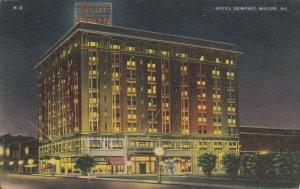 MACON , Georgia , 30-40s ; Hotel Dempsy at Night
