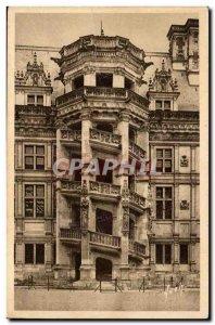 Old Postcard Blois The castle stairs Francois 1er