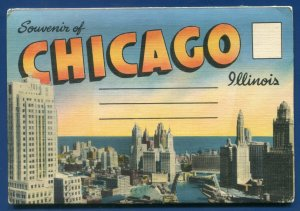 Chicago ILLinois il Fountain view beautiful parks Grant Park Postcard Folder