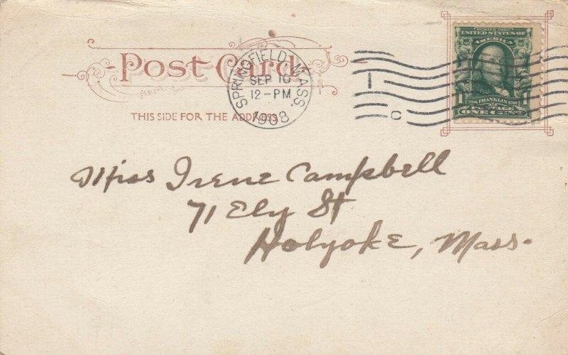SPRINGFIELD , Massachusetts, PU-1908 ; Main Street, North of Court Square