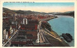Aerial View of Wheeling and Ohio River  West Virginia