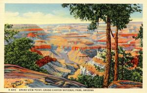 AZ - Grand Canyon National Park.  Grand View Point (Fred Harvey)