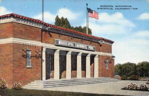 Municipal Natatorium, Marysville, California, early postcard, unused