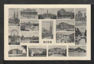 Multiview Vienna,Austria Postcard