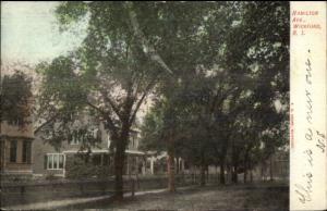 Wickford RI Hamilton Ave c1905 Postcard