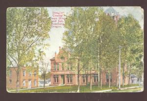 ROSEBURG OREGON DOUGLAS COUNTY COURT HOUSE JAIL VINTAGE POSTCARD