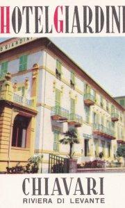 Italy Chiavari Hotel Giardini Vintage Luggage Label sk2243