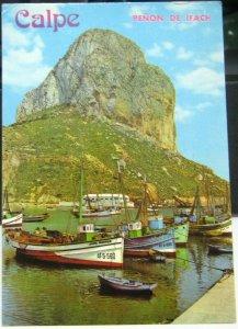 Spain Calpe Penon de Ifach  y puerto - posted 1982