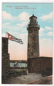 Lighthouse Morro Castle Havana Cuba 1910s postcard