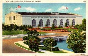 California Oakland Municipal Auditorium 1937