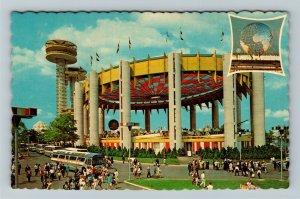 New York City NY-New York, New York Worlds Fair, State Exhibit, Chrome Postcard