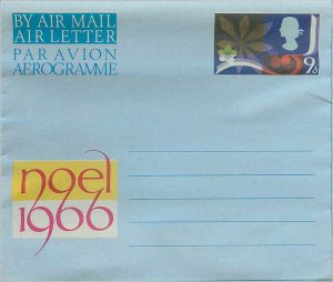 Entier Postal Stationery Postal Aerogramme Aeogram Britain Great Britain Chri...