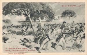 Military Dans une serie de combats Riviere de Genes 1795 02.92