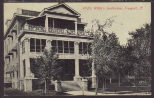 White's Sanitarium,Freeport,IL Postcard