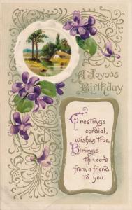 Happy Birthday Greetings - Joyous Wishes True - pm 1912 - DB