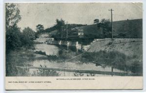 Streetcar Mitchellville Bridge Ayer Massachusetts 1906 postcard