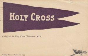 WORCESTER , Massachusetts, 1920 ; Holy Cross Flag