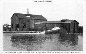 C-1940s Large Reservoir Water Rice Stuttgart Arkansas Postcard Teich 6702