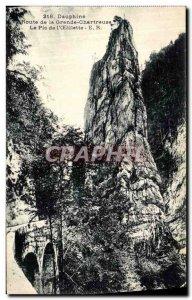 Old Postcard Dauphine Route Grande Chartreuse Peak of Oeillete