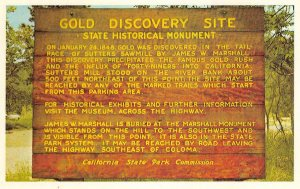 GOLD DISCOVERY SITE Gold Rush Coloma Sutter's Sawmill c1960s Vintage Postcard