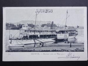 Egypt: Egypte - Bateau Sur Le Nil c1903 - Old Postcard