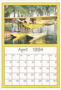 April 1994 Limited Editon Calendar Cardm AirShow '94 Piper J-3 Cub