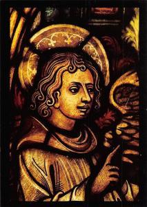 Engel (Detail aus dem Heilig-Kreuz-Fenster) Mariendom Erfurt Angel Cathedral