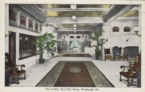 PITTSBURGH, Pennsylvania, PU-1929; Lobby , Fort Pitt Hotel