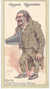 Cigarette Cards Players Characters From Dickens No 27 Quilp