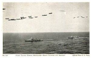 Fleet Traing During manuvers, Heavy Cruisers and Aircrafr