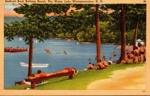 New Hampshire Lake Winnipesaukee The Weirs Endicott Rock Bathing Beach 1950