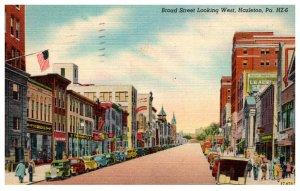Pennsylvania Hazelton  Broad street looking West