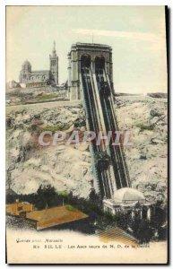 Postcard Old Marseille Elevators N D of the Guard