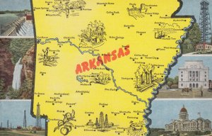 ARKANSAS , USA , Map , 1930s-40s