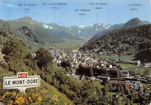 France Le Mont Dore Vue generale Le Puy de Sancy Le Capucin General view