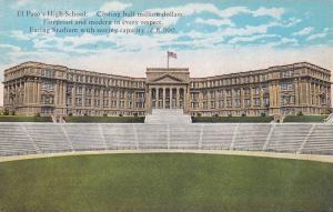 El Paso's High School, Facing Stadium, El Paso, Texas, 1900-1910s