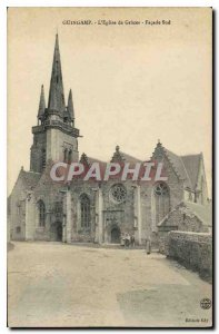 Old Postcard Guingamp The Church of Graces South Facade