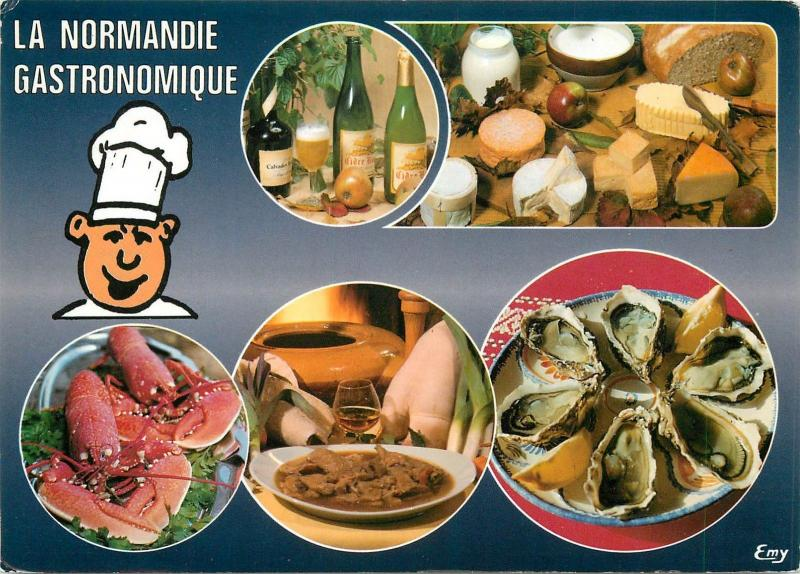 Food topical postcard french gastronomy