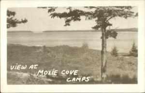Round Pond ME Moxie Cove Camps Real Photo Postcard