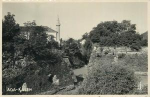 ADA KALEH 1930s Real Photo Postcard mosque minaret foto film Cluj