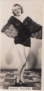 Grace Gillern Hollywood Actress Rare Real Photo Cigarette Card