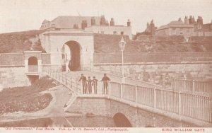 Uniform Worker at King William Gate Portsmouth Antique Postcard