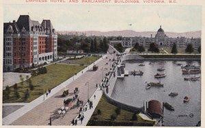 VICTORIA, British Columbia, Canada, 1900-1910s; Empress Hotel and Parliament ...