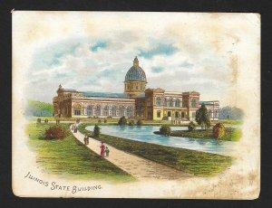 VICTORIAN TRADE CARD Bensdorps Dutch Cocoa Illinois State Building