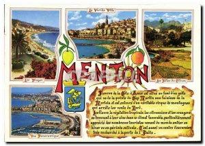 Postcard Modern Riviera Remembrance Menton M