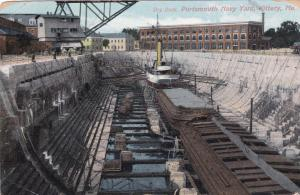 KITTERY, Maine, PU-1907; Dry Dock, Portsmouth Navy Yard