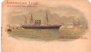 American Line Ship Postcard Old Vintage Antique Post Card SS New York by Pres...