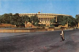 India North Delhi Parliament House Cyclist