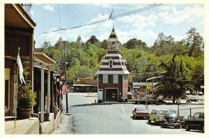 Old Firehouse AUBURN, CA Street Scene c1970s Continental Vintage Postcard